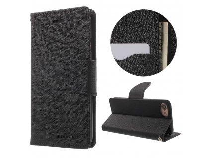 Pouzdro / kryt pro iPhone 7 / 8 - Mercury, Fancy Diary BLACK/BLACK