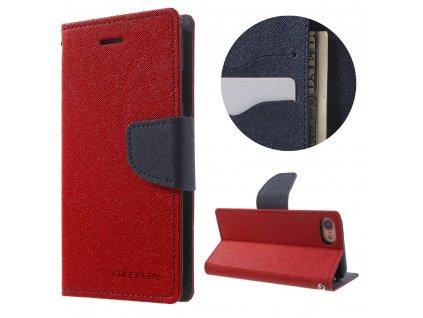 Pouzdro / kryt pro iPhone 7 / 8 / SE (2020) - Mercury, Fancy Diary RED/NAVY
