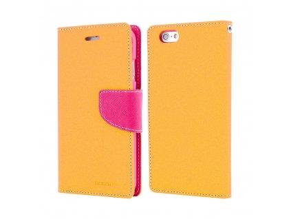 Pouzdro / kryt pro iPhone 7 / 8 - Mercury, Fancy Diary YELLOW/HOTPINK