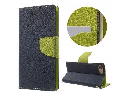 Pouzdro / kryt pro iPhone 7 / 8 / SE (2020) - Mercury, Fancy Diary NAVY/LIME