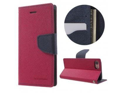 Pouzdro / kryt pro iPhone 7 / 8 / SE (2020) - Mercury, Fancy Diary HOTPINK/NAVY