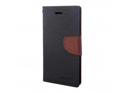 Pouzdro / kryt pro iPhone 7 Plus / 8 Plus - Mercury, Fancy Diary BLACK/BROWN