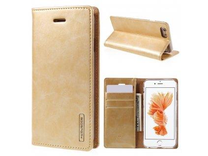 Pouzdro / kryt pro Apple iPhone 6 / 6S - Mercury, Bluemoon Flip Gold