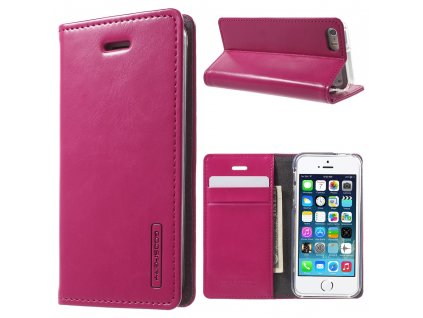 Pouzdro / kryt pro Apple iPhone 5 / 5S / SE - Mercury, Bluemoon Flip Hotpink