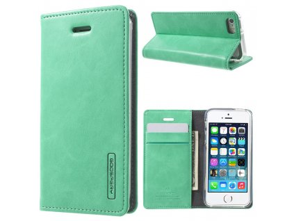 Pouzdro / kryt pro Apple iPhone 5 / 5S / SE - Mercury, Bluemoon Flip Mint