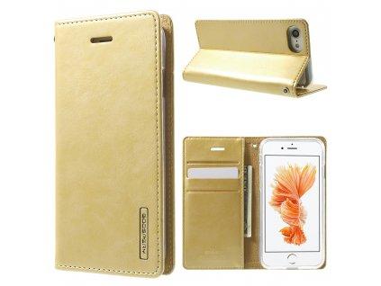 Pouzdro / kryt pro iPhone 7 / 8 / SE (2020) - Mercury, Bluemoon Flip Gold