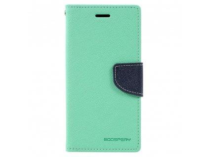 Pouzdro / kryt pro Samsung GALAXY A3 (2017) A320 - Mercury, Fancy Diary Mint/Navy
