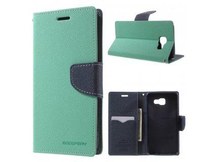 Pouzdro / kryt pro Samsung GALAXY A5 (2016) A510 - Mercury, Fancy Diary Mint/Navy