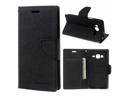 Pouzdro / kryt pro Samsung GALAXY J3 (2016) J3109 - Mercury, Fancy Diary Black/Black