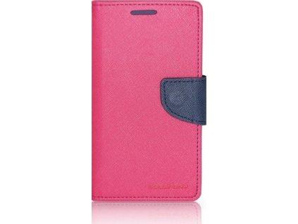 Pouzdro / kryt pro Samsung Galaxy S7 - Mercury, Fancy Diary Hotpink/Navy