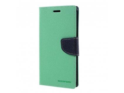 Pouzdro / kryt pro Samsung Galaxy S7 EDGE - Mercury, Fancy Diary Mint/Navy