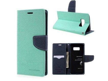 Pouzdro / kryt pro Samsung Galaxy S8 PLUS - Mercury, Fancy Diary Mint/Navy