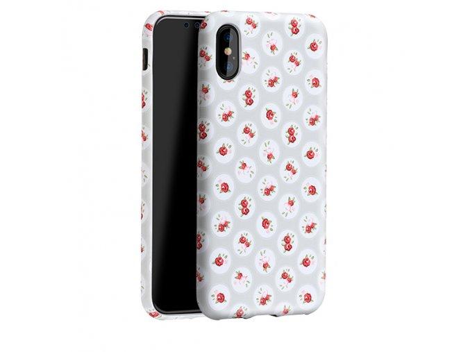 Ochranný kryt pro iPhone X - HOCO, Flowery Dots Floral