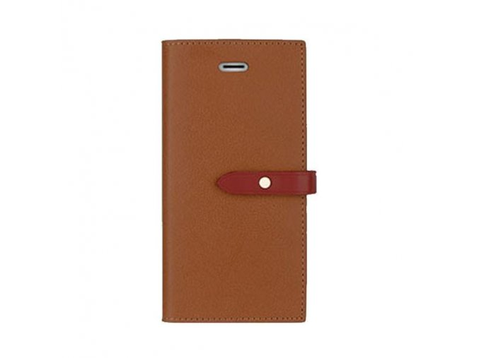 Pouzdro / kryt pro iPhone 5 / 5S / SE - Mercury, Romance Diary BROWN/WINE