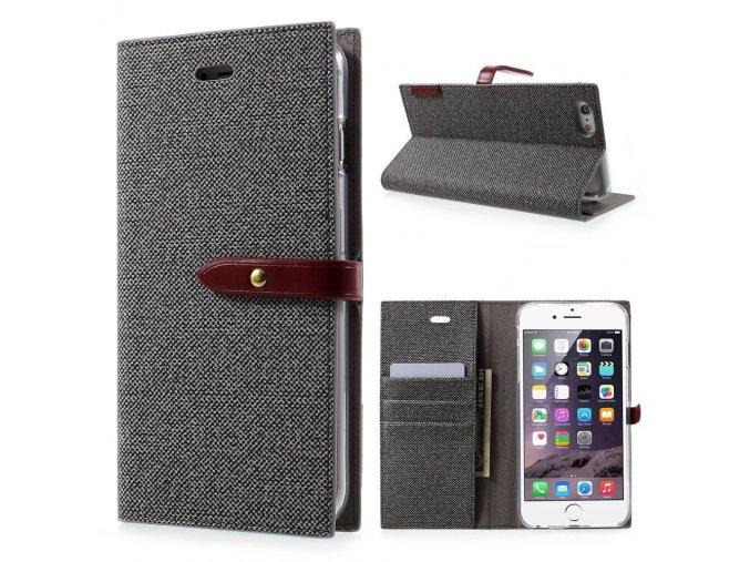 Pouzdro / kryt pro iPhone 6 / 6S - Mercury, Milano Diary GREY/WINE