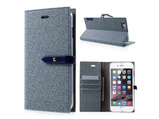 Pouzdro / kryt pro iPhone 6 / 6S - Mercury, Milano Diary BLUE/BLUE