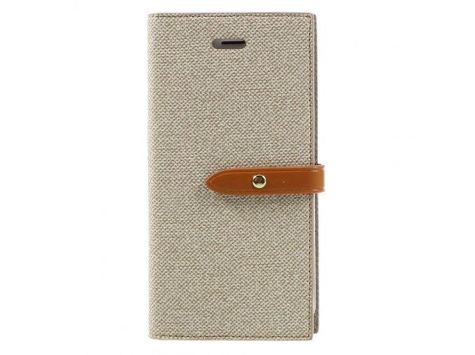 Pouzdro / kryt pro iPhone 7 / 8 - Mercury, Milano Diary BEIGE/BROWN