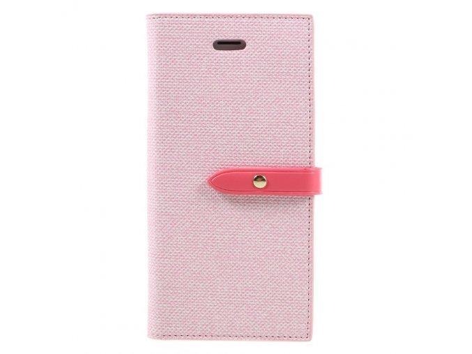 Pouzdro / kryt pro iPhone 7 / 8 - Mercury, Milano Diary PINK/PINK