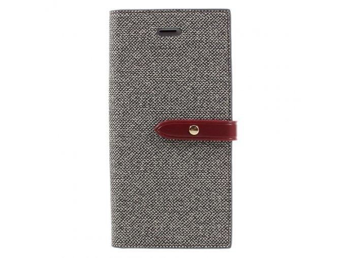 Pouzdro / kryt pro iPhone 7 / 8 - Mercury, Milano Diary GREY/WINE