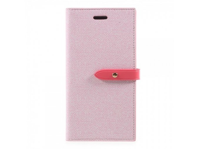Pouzdro / kryt pro iPhone XS / X - Mercury, Milano Diary PINK/PINK