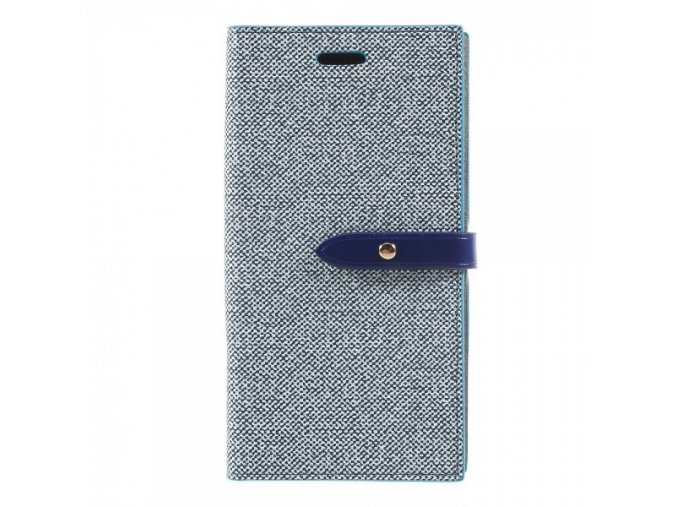 Pouzdro / kryt pro iPhone XS / X - Mercury, Milano Diary BLUE/BLUE
