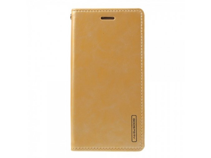 Pouzdro / kryt pro iPhone XS / X - Mercury, Bluemoon Flip GOLD
