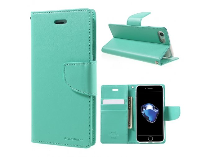 Pouzdro / kryt pro iPhone 7 / 8 - Mercury, Bravo Diary MINT