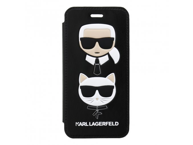 Ochranný kryt pro iPhone 8 / 7 / 6s / 6 - Karl Lagerfeld, Choupette Black Book