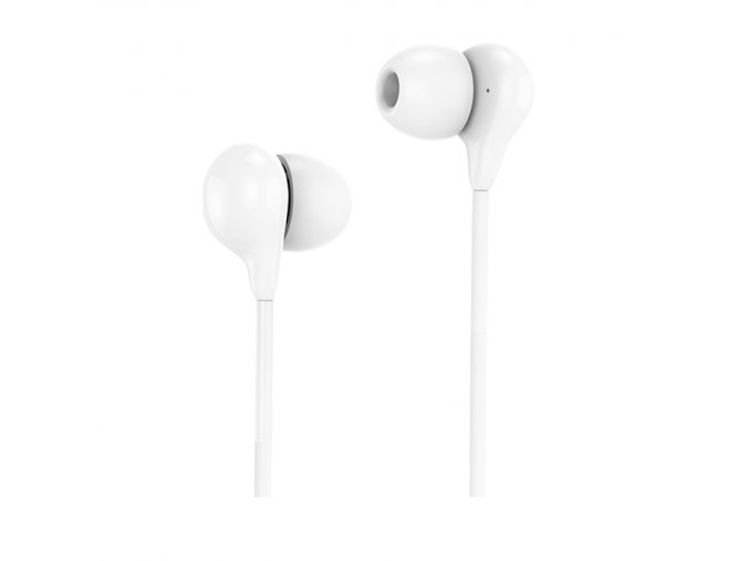 Sluchátka pro iPhone a iPad - HOCO, M13 Candy White