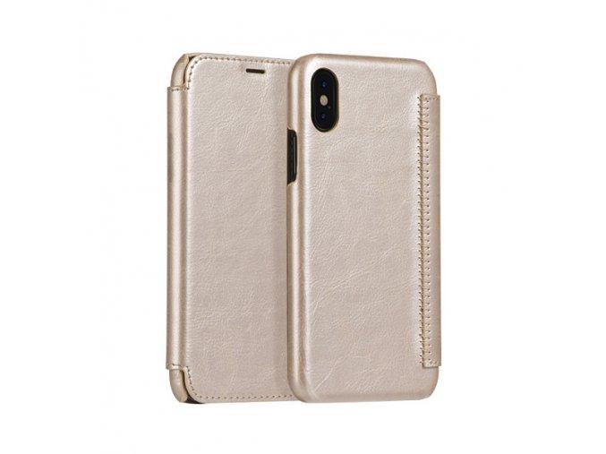 Ochranný kryt / pouzdro pro iPhone X - HOCO, Crystal Gold