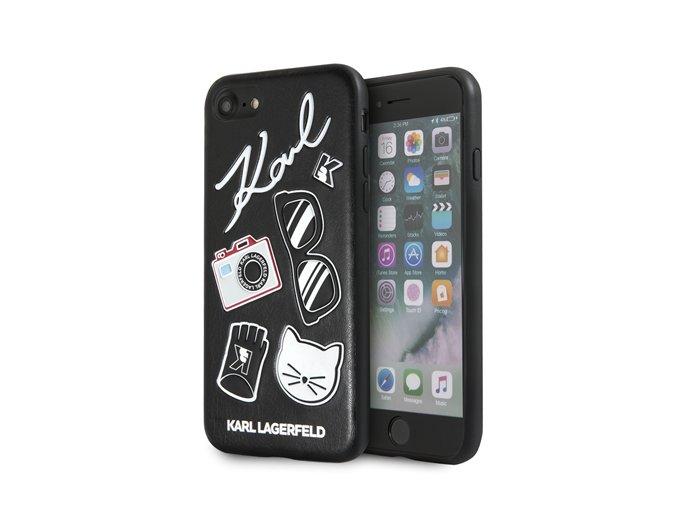 Ochranný kryt pro iPhone 8 / 7 / 6s / 6 - Karl Lagerfeld, Pins Back