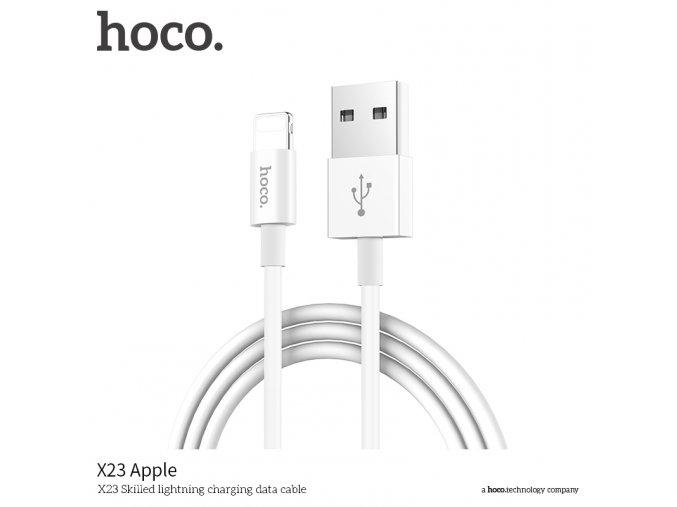 Kabel lightning pro iPhone a iPad - Hoco, X23 Skilled White