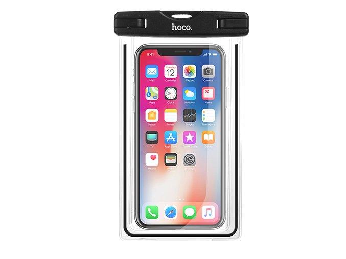 Plážové voděodolné pouzdro pro iPhone - Hoco, Waterproof Bag Black