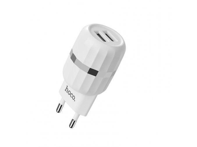 Nabíjecí AC adaptér pro iPhone a iPad - HOCO, C41A Dual 2.4A