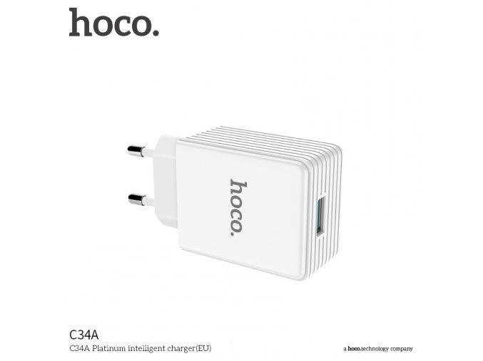 Rychlý nabíjecí AC adaptér pro iPhone a iPad - Hoco, C34A QUALCOMM QUICK CHARGE 3.0 18W