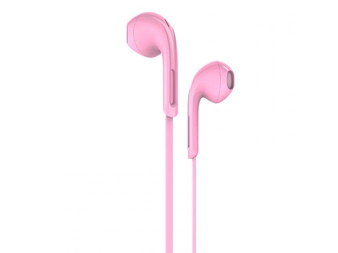 Sluchátka pro iPhone a iPad - HOCO, M39 Rhyme Pink
