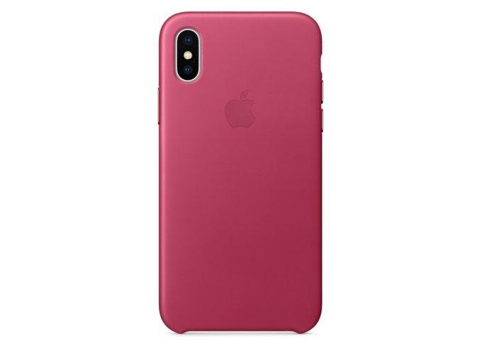 Ochranný kryt pro iPhone X - Apple, Leather Case Pink Fuchsia
