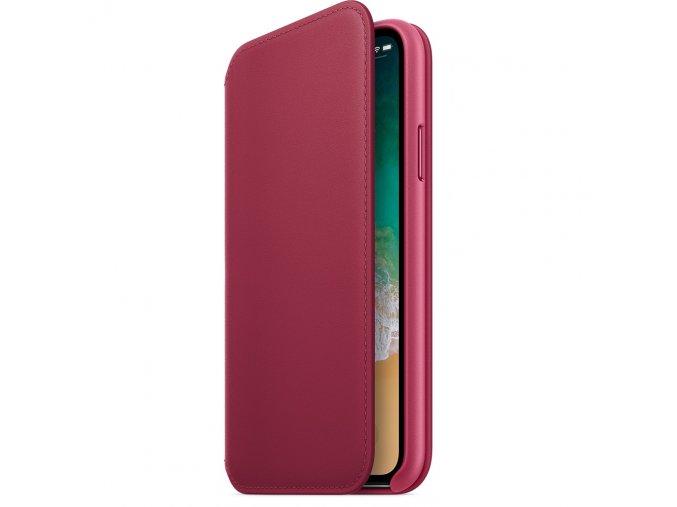 Pouzdro / kryt pro iPhone X - Apple, Folio Case Berry