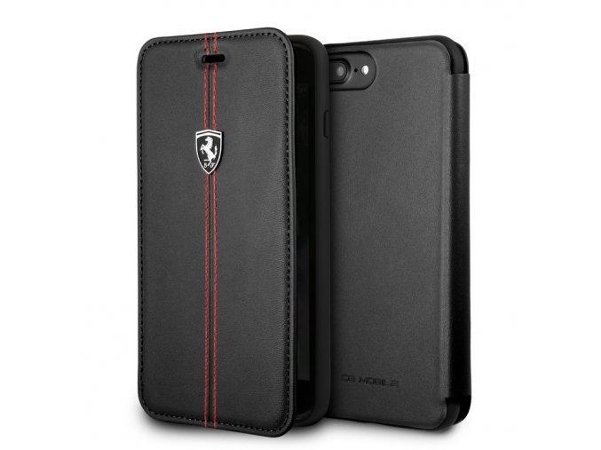 Pouzdro / kryt pro iPhone 7 PLUS / 8 PLUS - Ferrari, Heritage Book Black