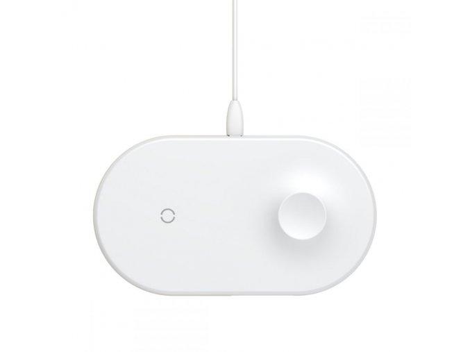 Bezdrátová rychlá nabíječka pro iPhone a Apple Watch - BASEUS, SMART 2IN1 WHITE