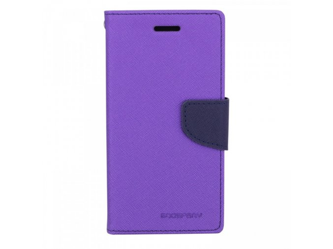 Pouzdro / kryt pro Samsung GALAXY A8 (2018) A530F - Mercury, Fancy Diary Purple/Navy