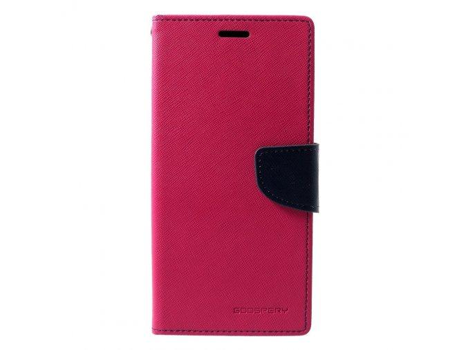 Pouzdro / kryt pro Samsung GALAXY A7 (2018) A750 - Mercury, Fancy Diary HotPink/Navy