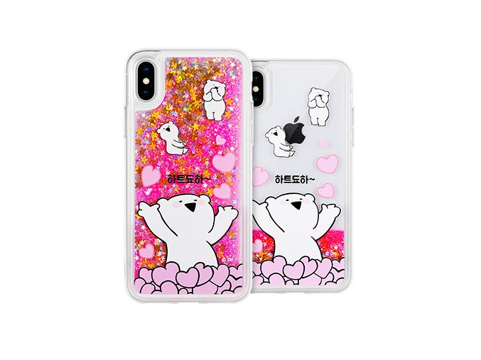 Ochranný kryt pro iPhone 7 PLUS / 8 PLUS - Mercury, Rabbit Glitter Heart