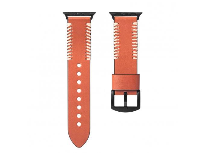 Kožený pásek / řemínek pro Apple Watch 42mm / 44mm - DuxDucis, Fashion Brown