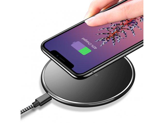Bezdrátová nabíječka pro iPhone - DuxDucis, C1 Black