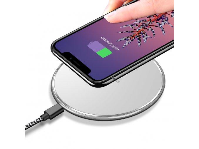 Bezdrátová nabíječka pro iPhone - DuxDucis, C1 White