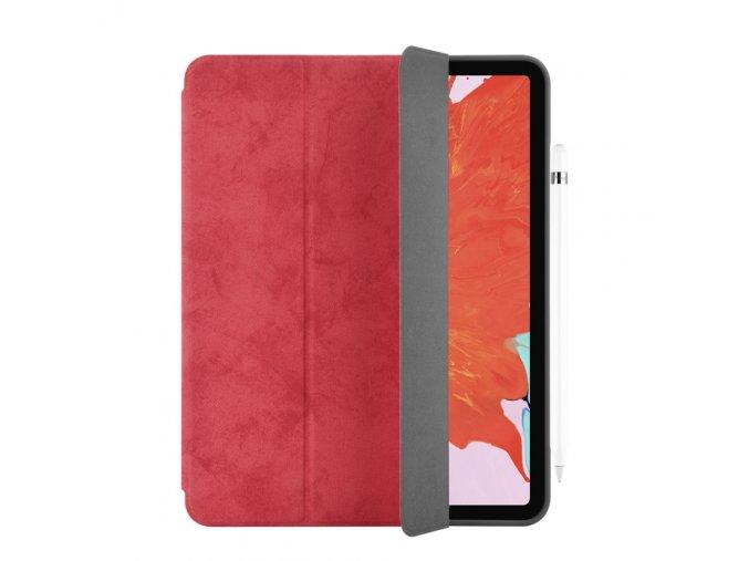 Pouzdro / kryt pro iPad Pro 12.9 (2018) - Comma, Leather Case Red (Pencil Slot)