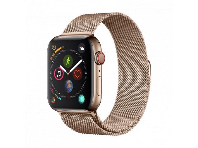 Řemínek pro Apple Watch 42mm / 44mm - Devia, Milanese Gold