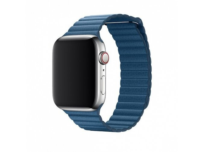 Řemínek pro Apple Watch 38mm / 40mm - Devia, LeatherLoop Cape Cod Blue