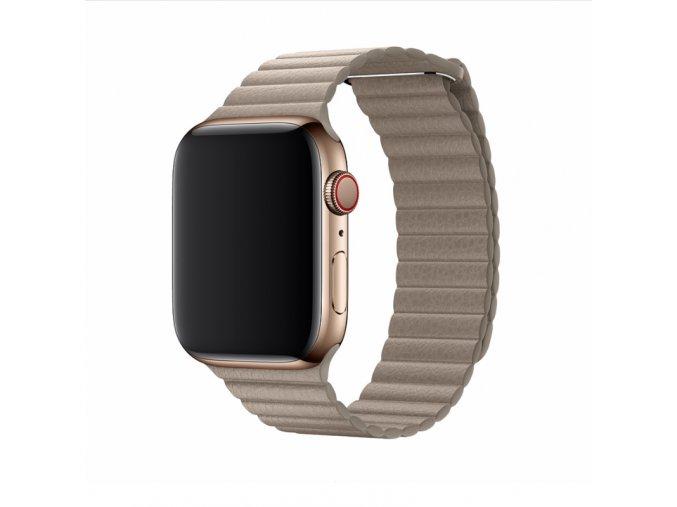Řemínek pro Apple Watch 42mm / 44mm - Devia, LeatherLoop Stone